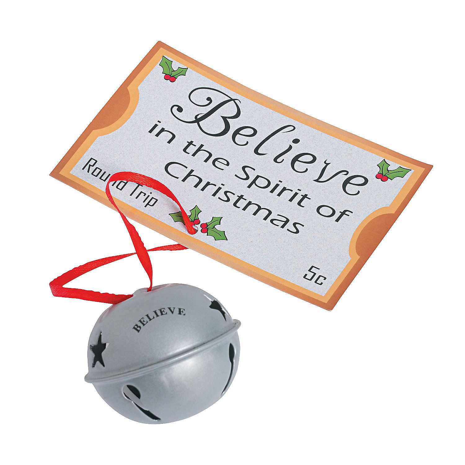 Christmas /'Believe/' Jingle Bell perfect for Christmas Eve boxes or festive decorations