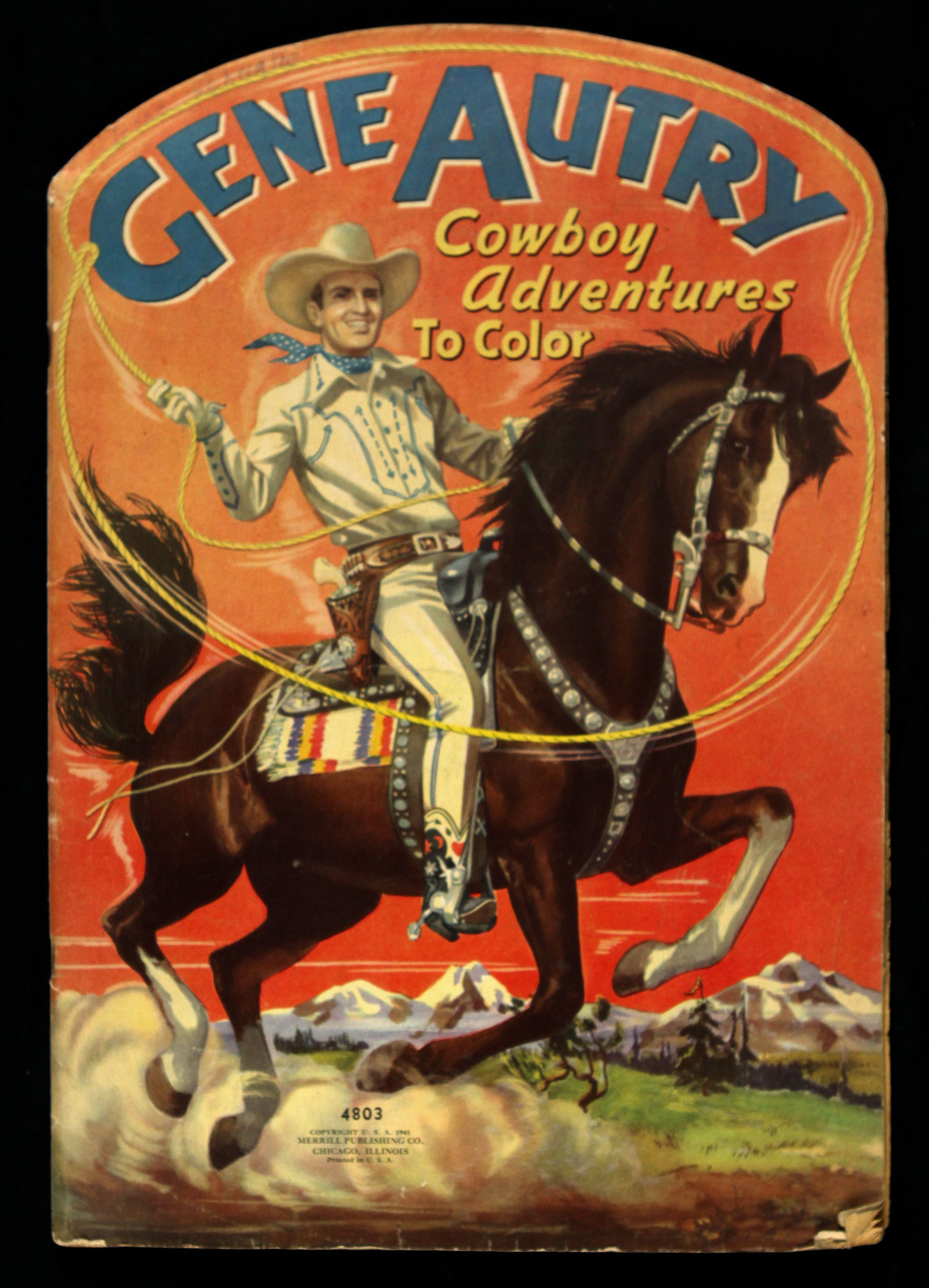 Offered is a Gene Autry Cowboy Adventures to Color oversized ...