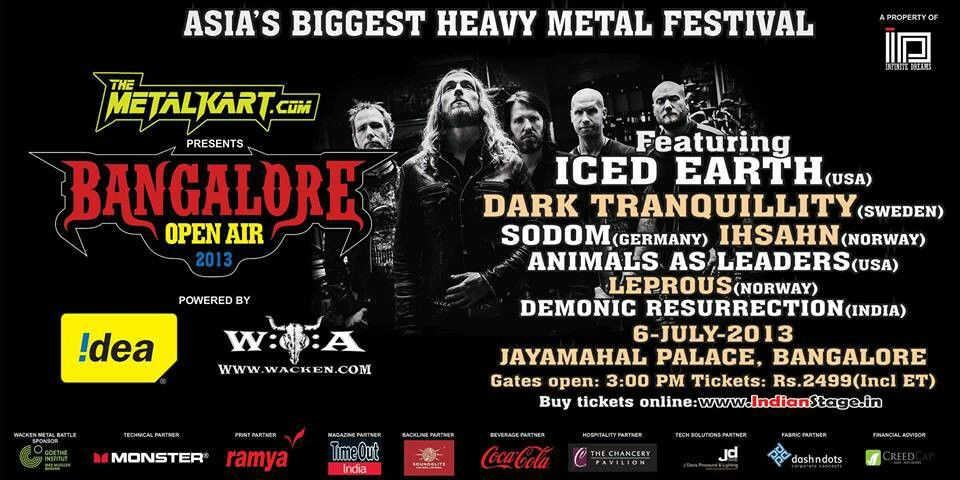Bangalore Open Air Metalfest Boa Gig Posters Buy Tickets Online Album Art