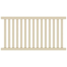 Best 111 00 Gatehouse Emblem 48 In X 8 Ft Sand Flat Top Picket 640 x 480
