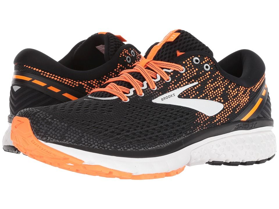 ad4019f5137e9 Brooks Ghost 11 Men s Running Shoes Black Silver Orange