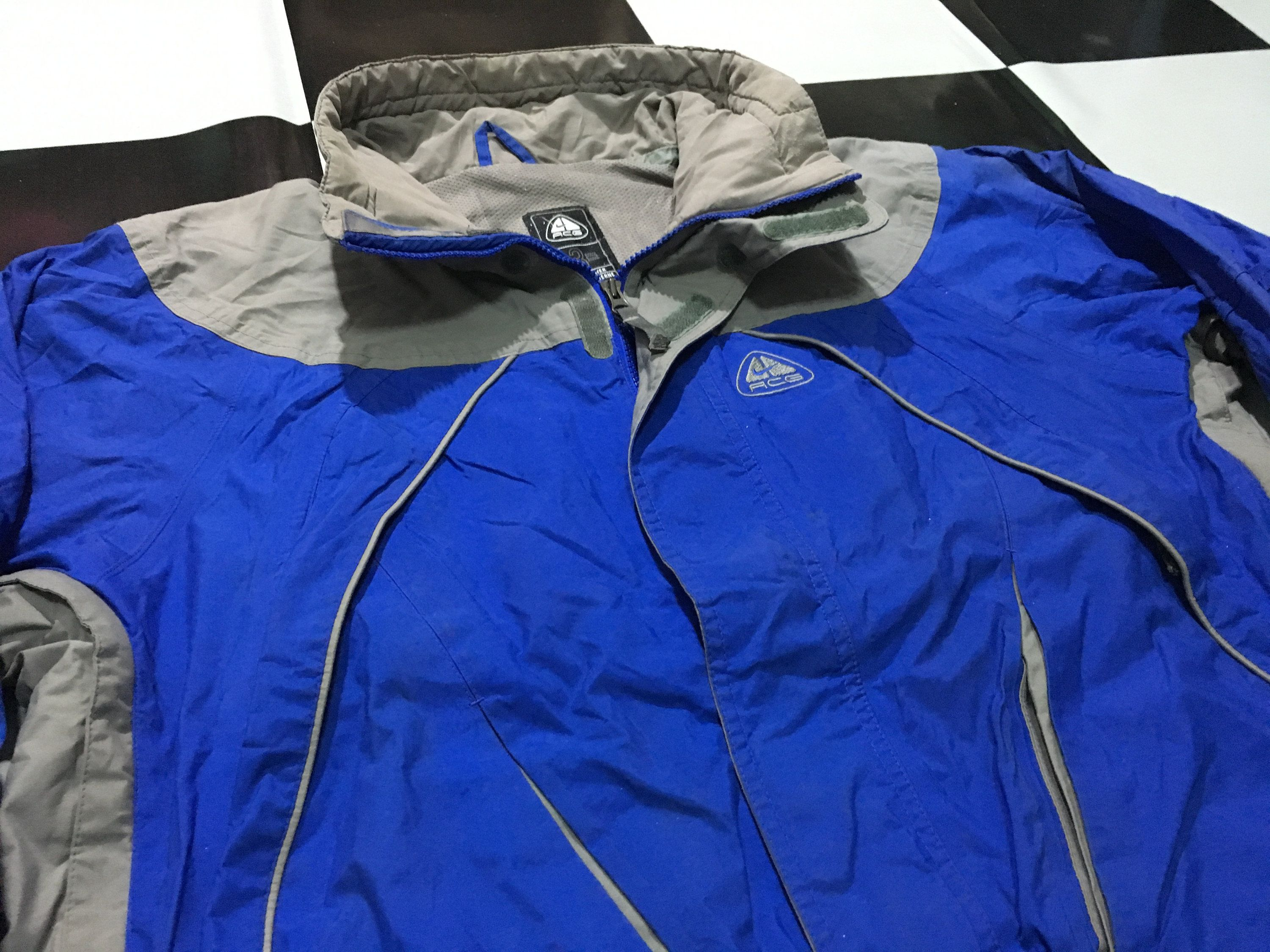 87e0dbc331 Vintage Nike ACG jacket windbreaker waterproof jacket insulated Nike all  conditions gear embroidered logo Blue Gray Size L Good condition by ...