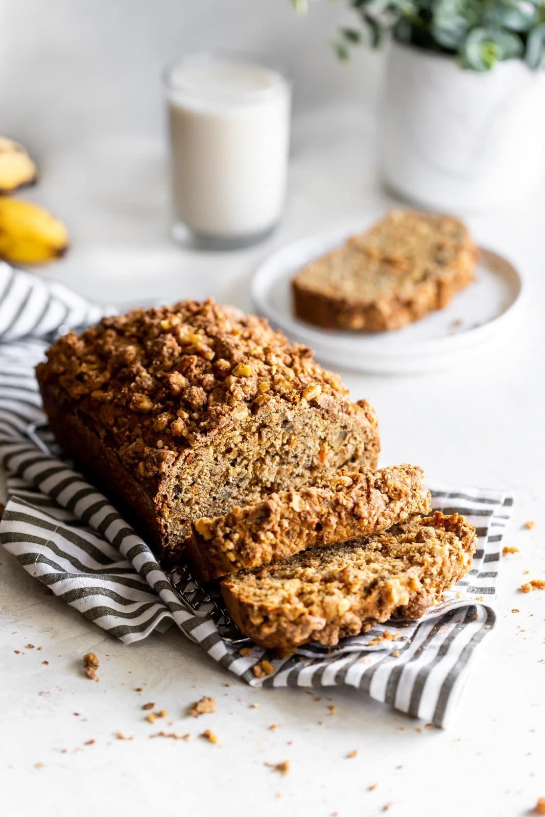 Healthy Carrot Cake Banana Bread (DairyFree, Refined