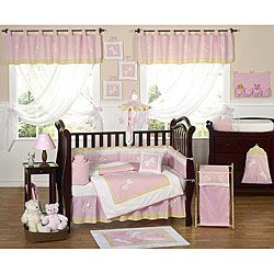 @Overstock - This pink dragonfly themed nine piece baby bedding set was created by JoJo Designs. This set includes a blanket, crib bumper, crib skirt, fitted sheet, toy bag, decorative throw pillow, diaper stacker, and two window valances. http://www.overstock.com/Baby/Pink-Dragonfly-9-piece-Crib-Bedding-Set/5298474/product.html?CID=214117 $179.99