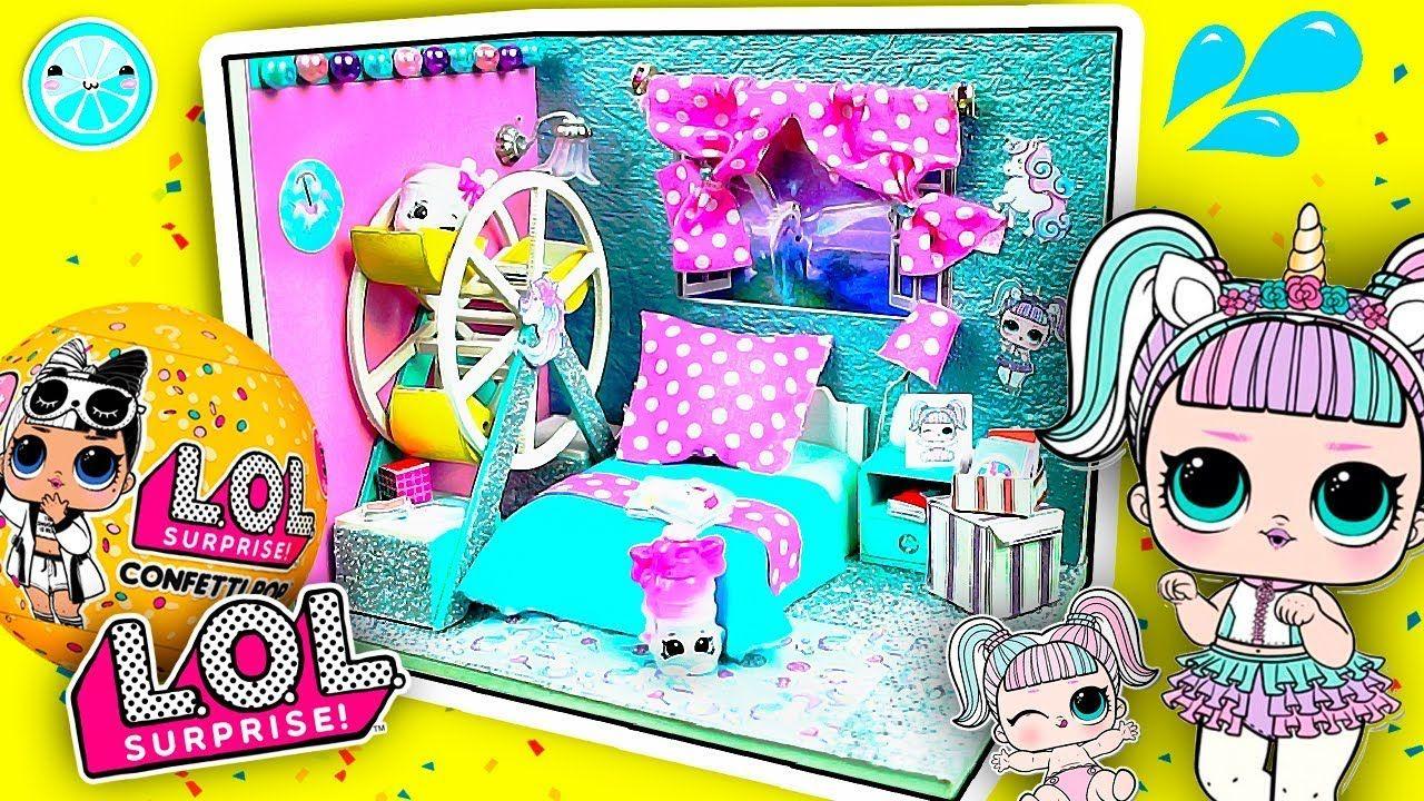 Unicorn Lol Surprise Dolls Diy Miniature Dollhouse Room Tutorial