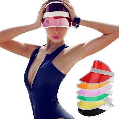 85d485d777f21 90s Plastic Clear sun visor hat