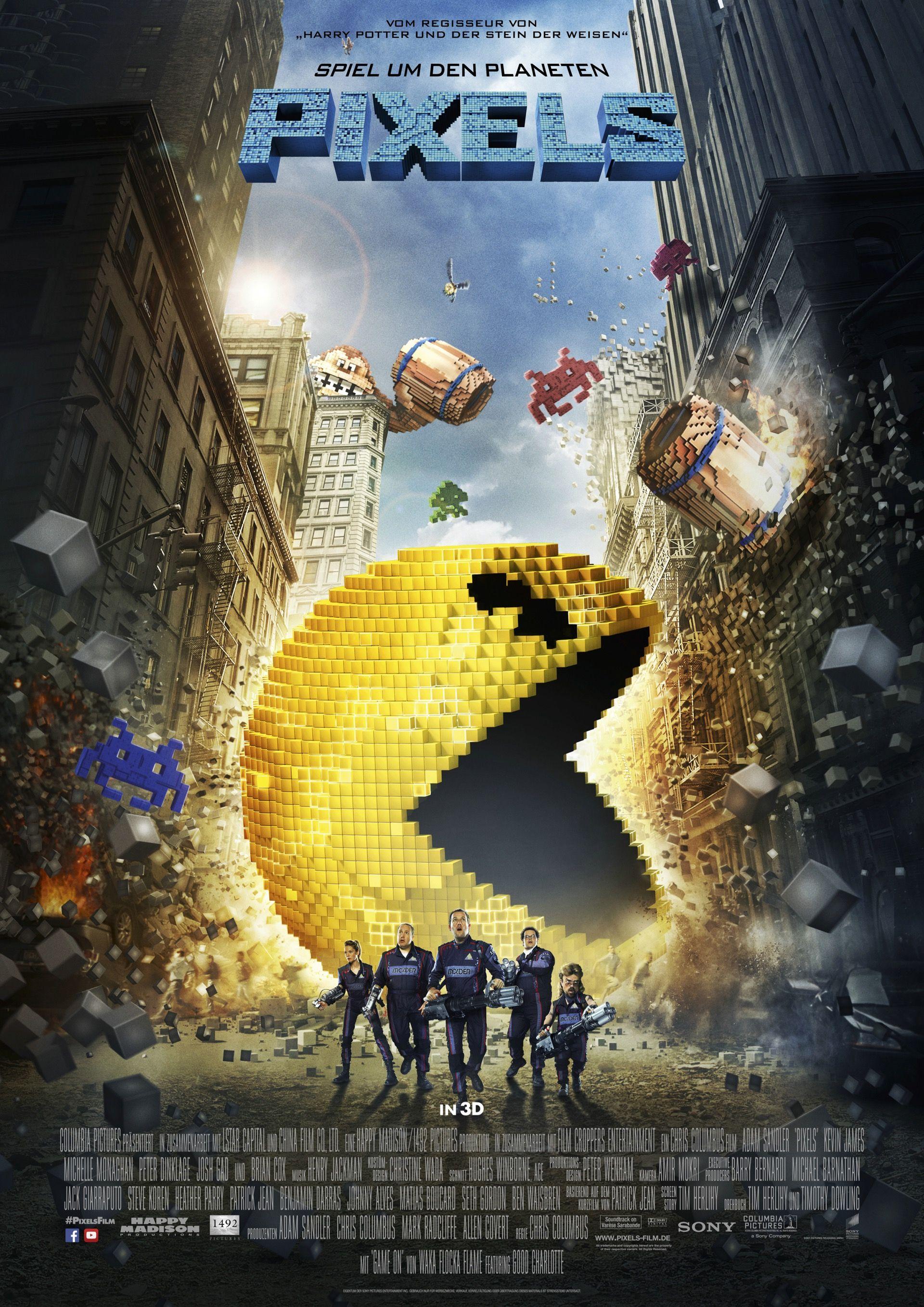 Pixels Poster C Sony Pictures 2015 Pixels Film Films Gratuits En Ligne Film