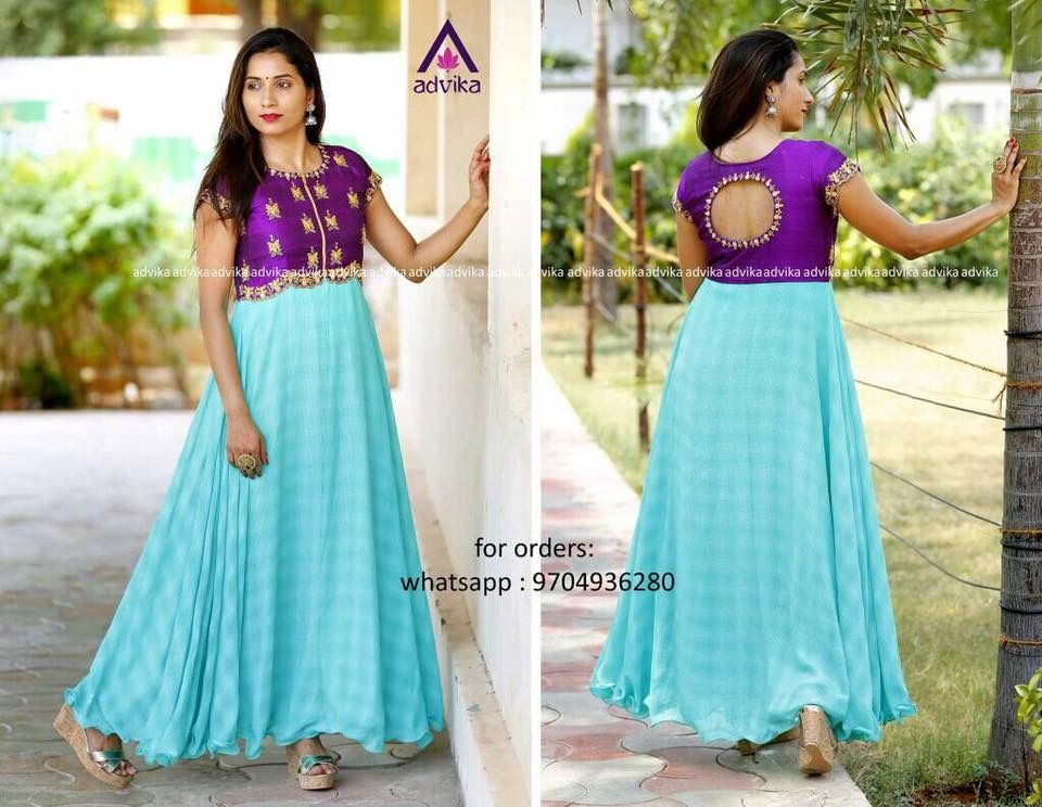 Long Anarkali Suits Indian Ethnic Wear Color Combinations Sarees Frocks Combos Couture