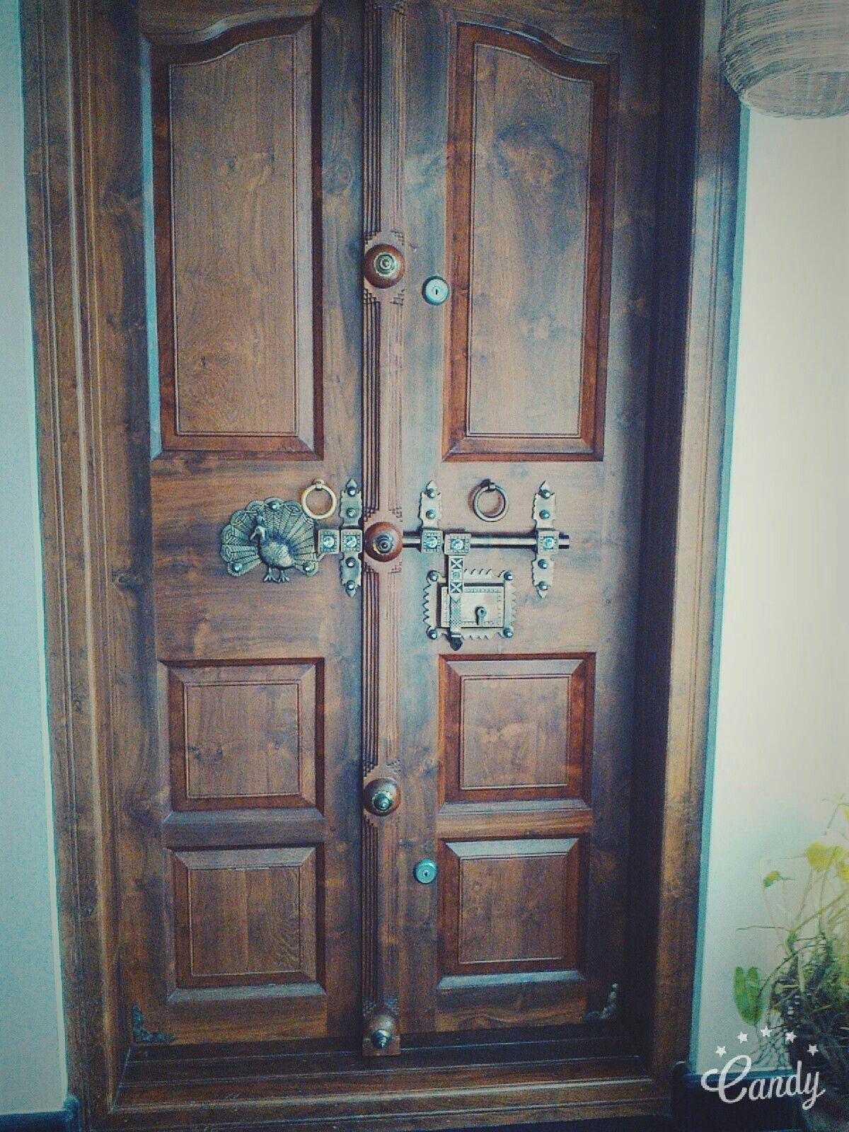 Kerala style door   Wooden door design, Front door design ...