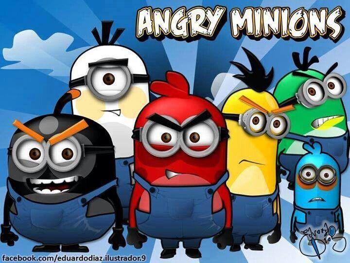 Angry Minions Lol Com Imagens Imagens Minions Minions