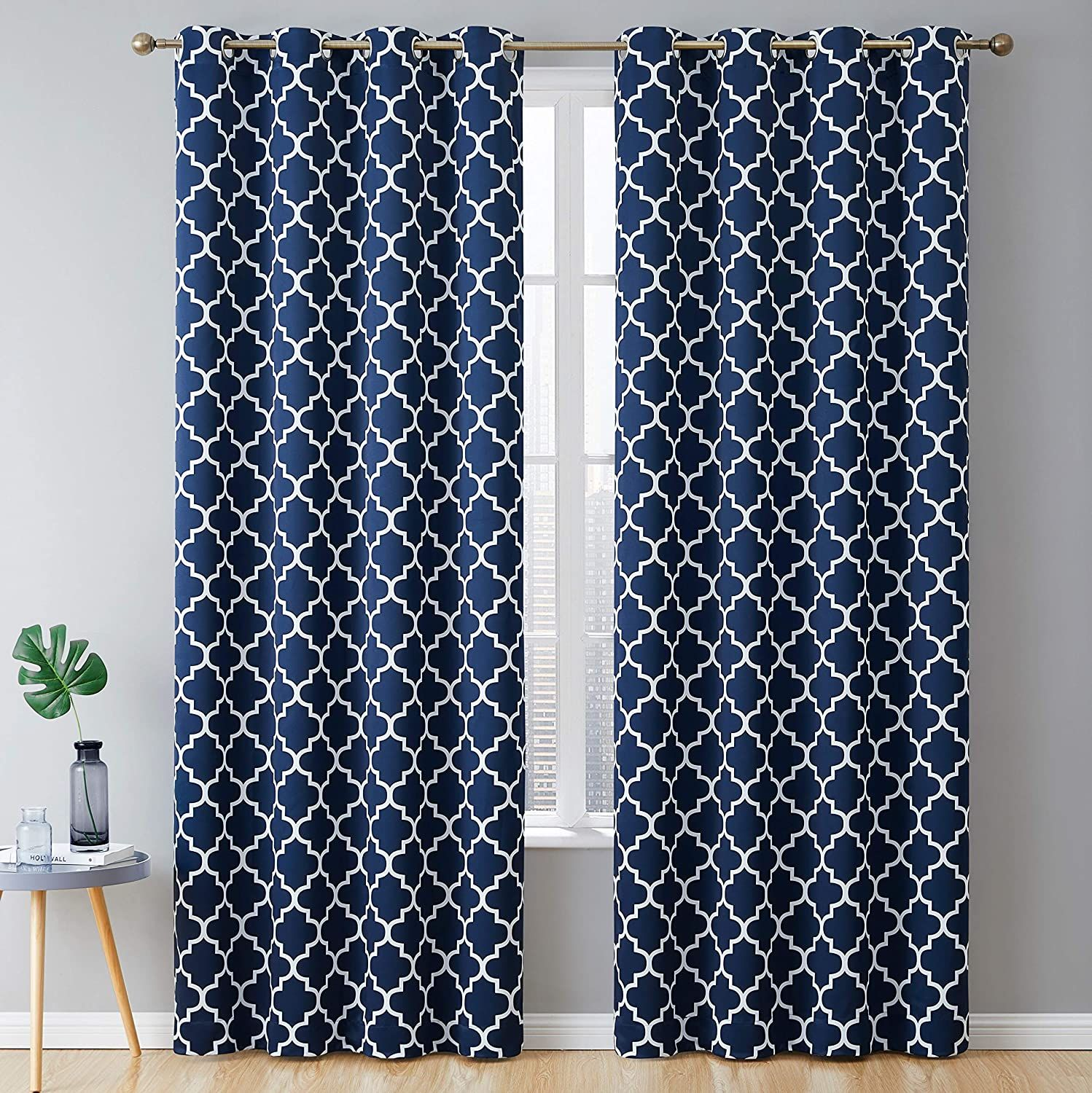 15 Best Blue And White Curtains Thetarnishedjewelblog Blue And White Curtains Grommet Curtains Panel Curtains Blue and white curtain panels