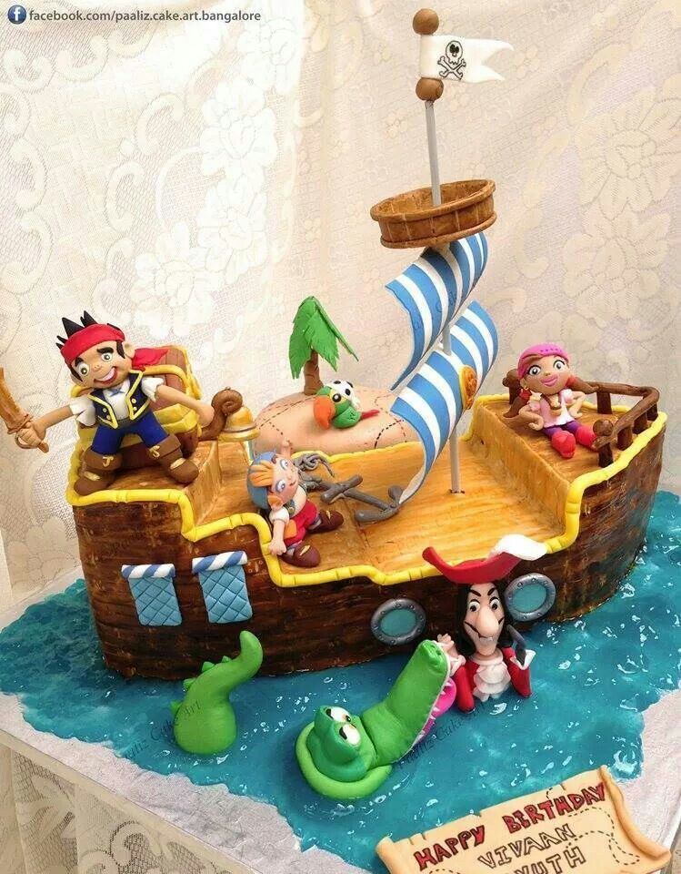 Jake and captain hook cake Disney Cakes and cupcakes Pinterest