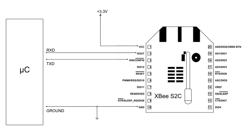 Xbee S2c Module Microcontroller Circuit Diagram In 2019