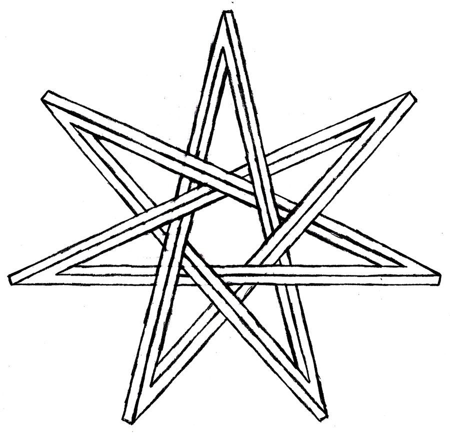 seven point star meaning - Google Search   bored..... bored ...