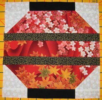 Chinese Lantern Pieced Block | Quilting | Pinterest | Block of the ... : chinese quilt patterns - Adamdwight.com