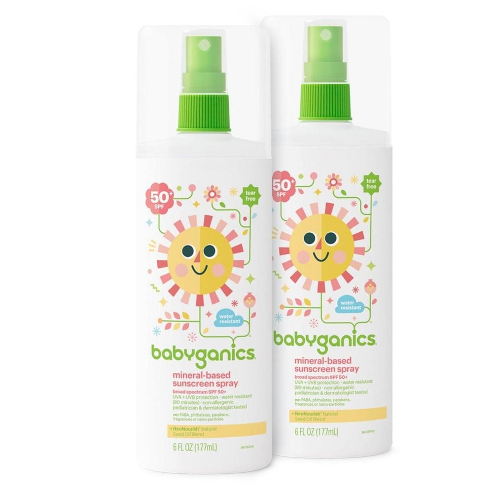 Baby Sunscreen Spray Babyganics Mineral Based Spf 50 Water