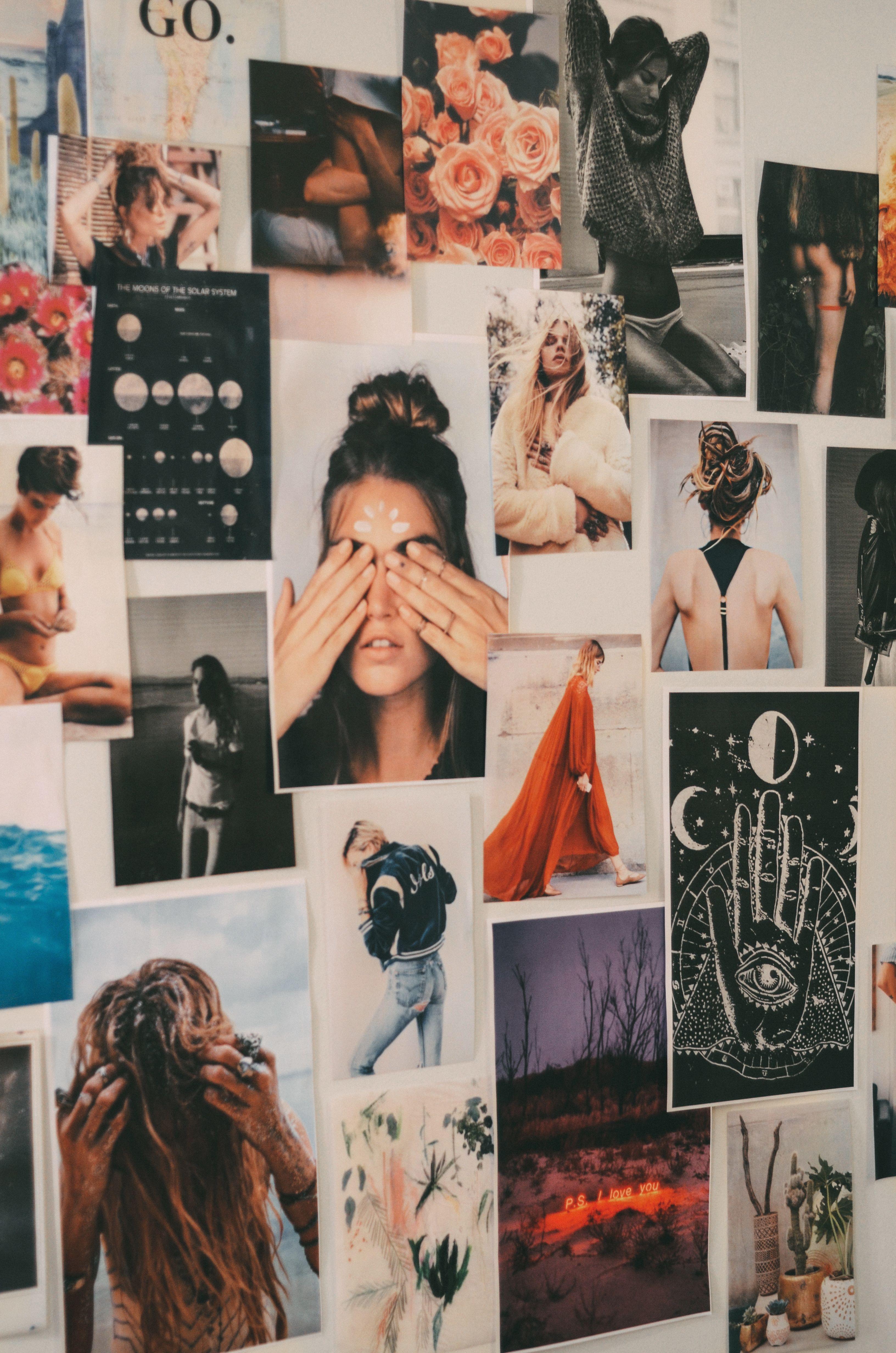 Inspiration Boards On Walls Ideas Indie Aesthetic Decor Explore Pinterest Decor Con Imagenes Decorar Paredes Con Fotos Decoracion De Unas Mural De Fotos