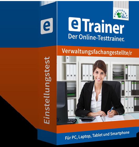 Etrainer Verwaltungsfachangestellter Online Training Fur Den Einstellungstest In 2020 Verwaltung Angestellte Uben