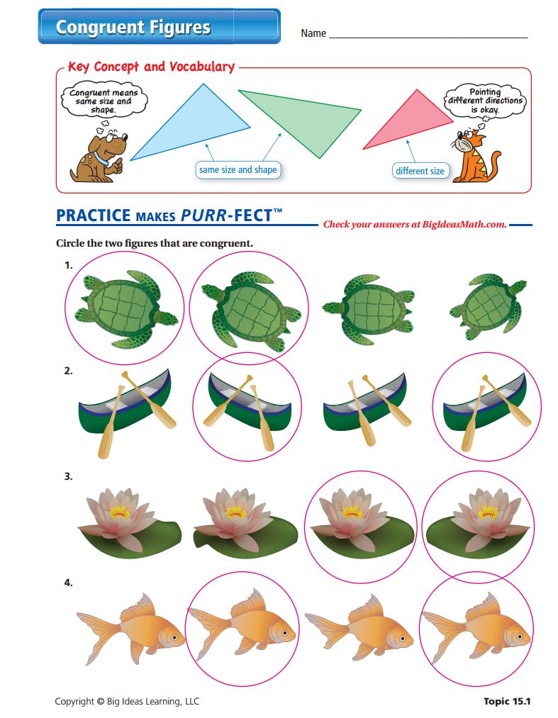 Uncategorized Congruent Figures Worksheet congruent shapes worksheets activities greatschools figures worksheet answers