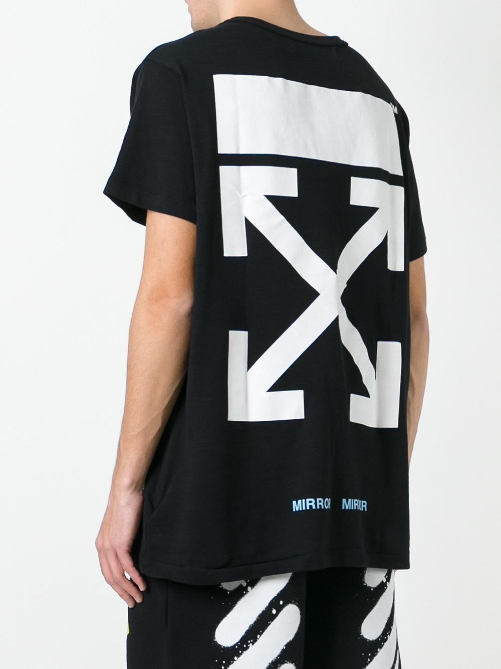 9a41ee2850b7 Off-White camiseta con estampado del logo   Suit up for Grown ups ...
