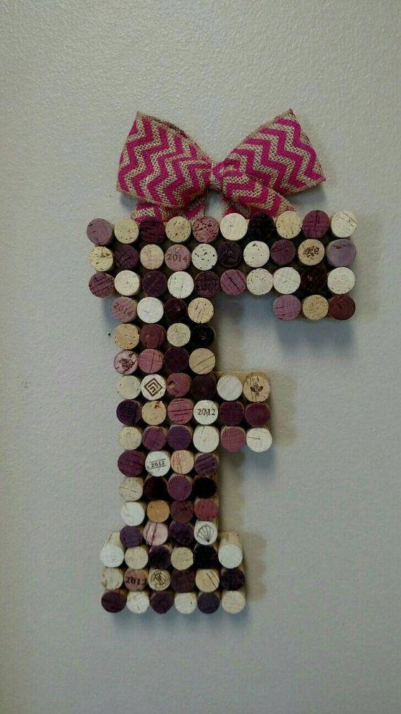 Lettre de Liège vin vin grand 13 pouces par HappyHeartHomeDecor