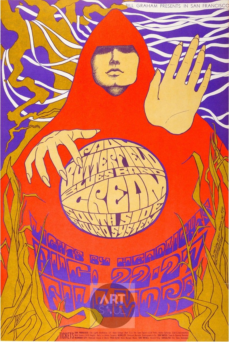 Post 12 Crystal 1960s Fonts Psychedelic Poster Rock Posters Psychedelic Art