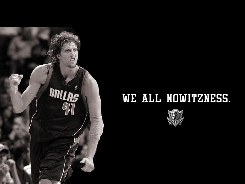 Game 2 WIN! Because of this beautiful human being right here. Dirk Nowitzki