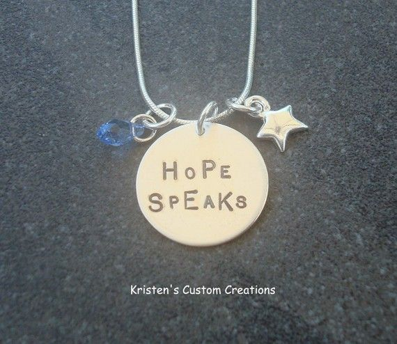 $52.90 Hand Stamped Sterling Silver Hope Speaks necklace