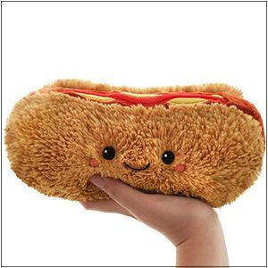 Mini Comfort Food Hot Dog Squishable Plush Hotdog America