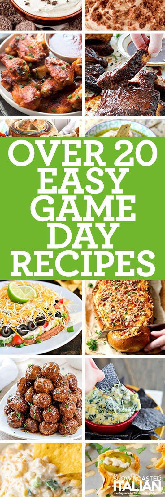 20+ Easy Game Day Recipes - Nothing makes game day better than simple amazing recipes, well that and a great game.