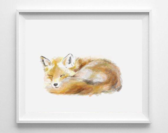 Fox Art Print Painting
