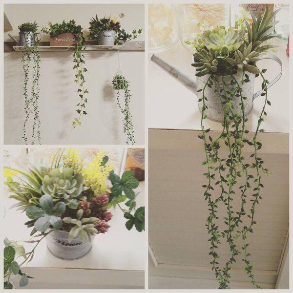 100均のフェイクグリーンでお部屋を可愛く ギャザリー 植物の