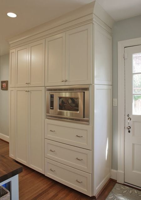 Pantry cabinets 10 gorgeous microwave pantry cabinet for Kraftmaid microwave shelf