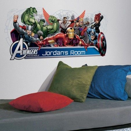 Create an adventure-filled space with our Avengers Assemble Personalized Headboard Wall Decal.