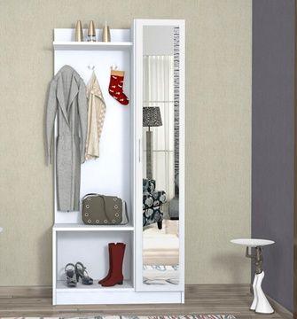Mobile da ingresso con specchio e appendini bianco cose che farei pinterest home house - Mobili ingresso con specchio ...