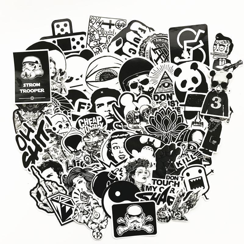 60 stks Gemengde grappige hit stickers voor kinderen interieur jdm ...