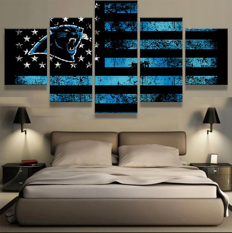 Carolina panthers nfl football panel canvas wall art home decor also best chad   man cave project images on pinterest rh
