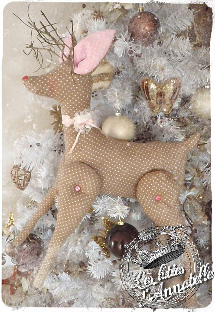 tilda deer. Made one last year, pattern is pinned, going to print the pattern -50% to try smaller ones for the tree.