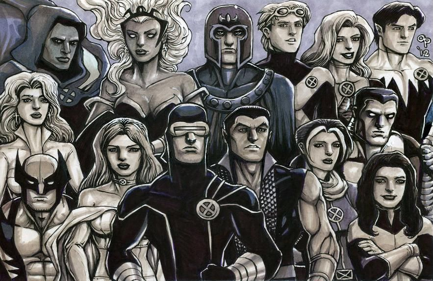 X Men Utopia By Olybear X Men Male Sketch Men