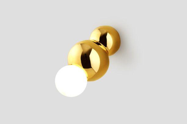 Gold Wall-Mounted Ball Light - Shop - L'ArcoBaleno