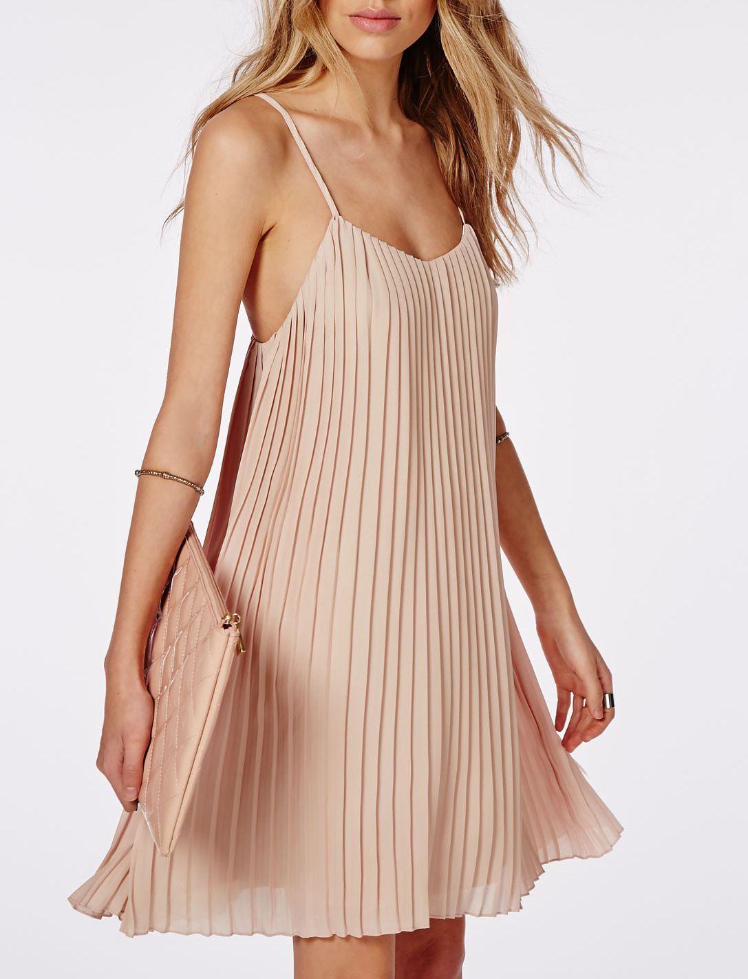 b161815c1 vestido tirantes plisada-crudo 14.16