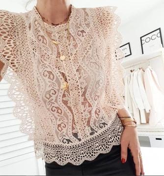 Zara W Bluzki Damskie 38 M Strona 3 Allegro Pl Lace Top Outfits Blush Lace Top Lace Top