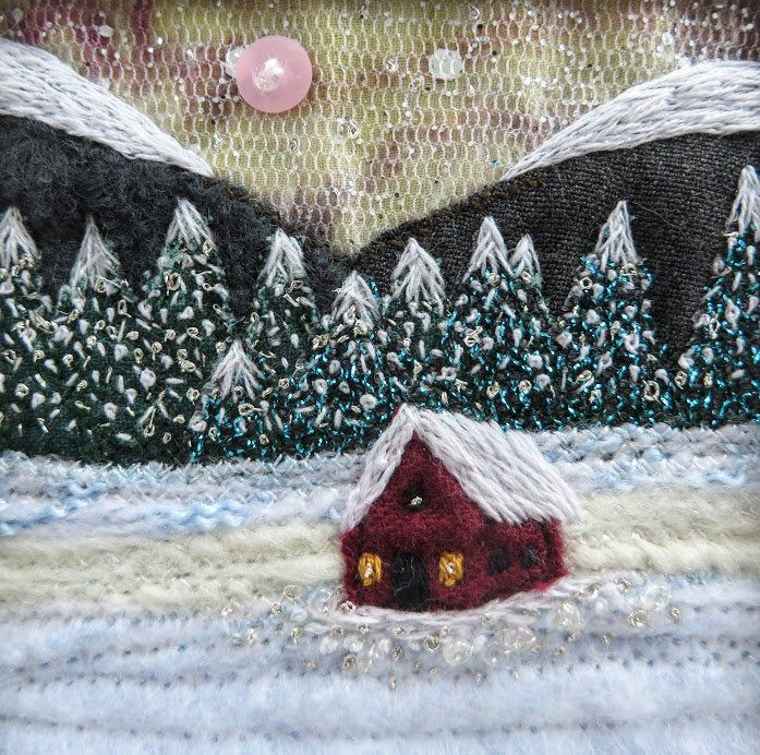 Winter cabin snowscene in 5.5