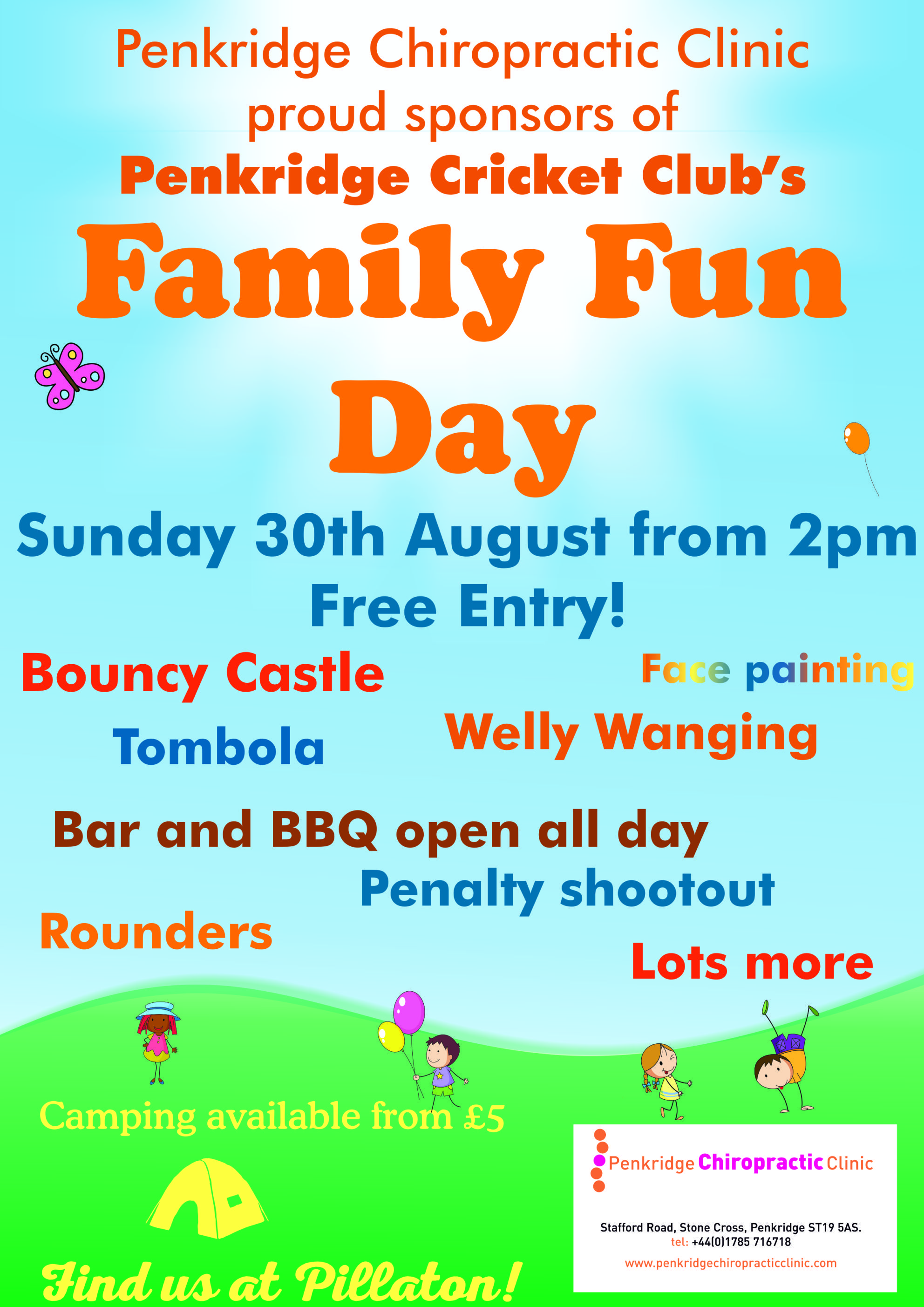 Family Fun Day Poster For Penkridge Cricket Club A Summer Time Theme Fete Fayre Using Cooper Black And Futura Family Fun Day Family Fun Cricket Club