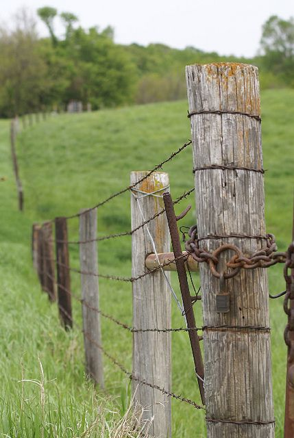 fence farm fences wire rustic country posts barbed security gates fencing wooden gate farming field line america living charm flickr
