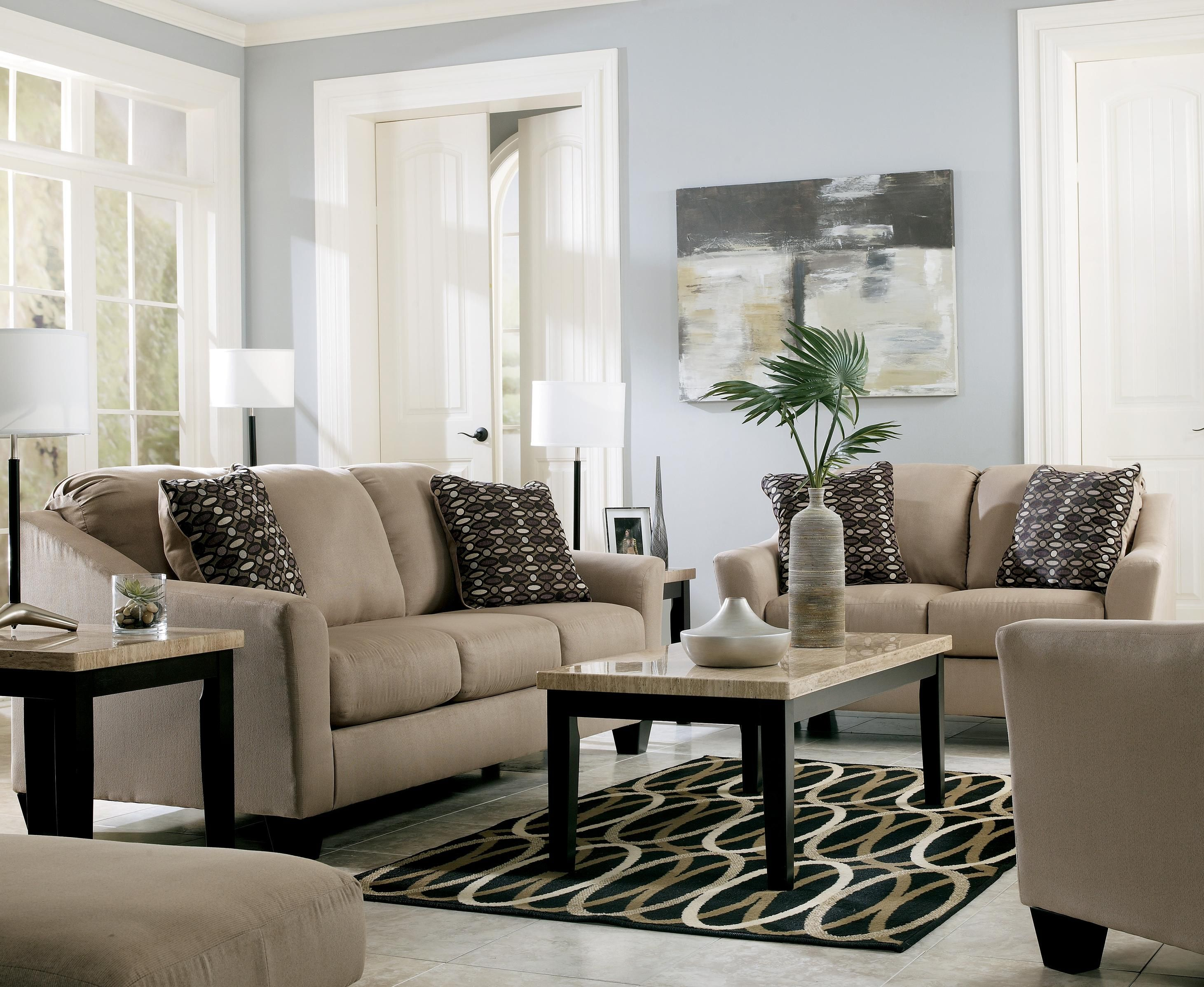 KyleClay Sofa And Loveseat Set Marjen Of Chicago Chicago - Marjen furniture