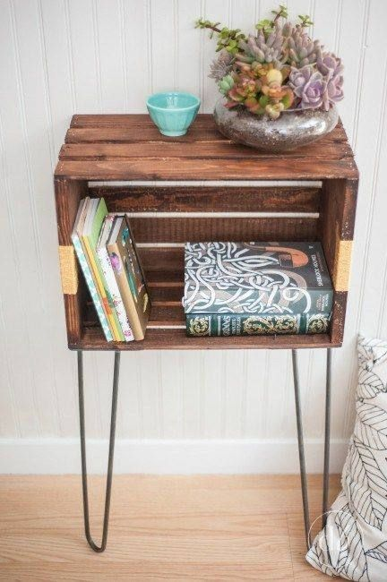 Crate Bedside Table Chic Bedside Table Simple Bedside Table