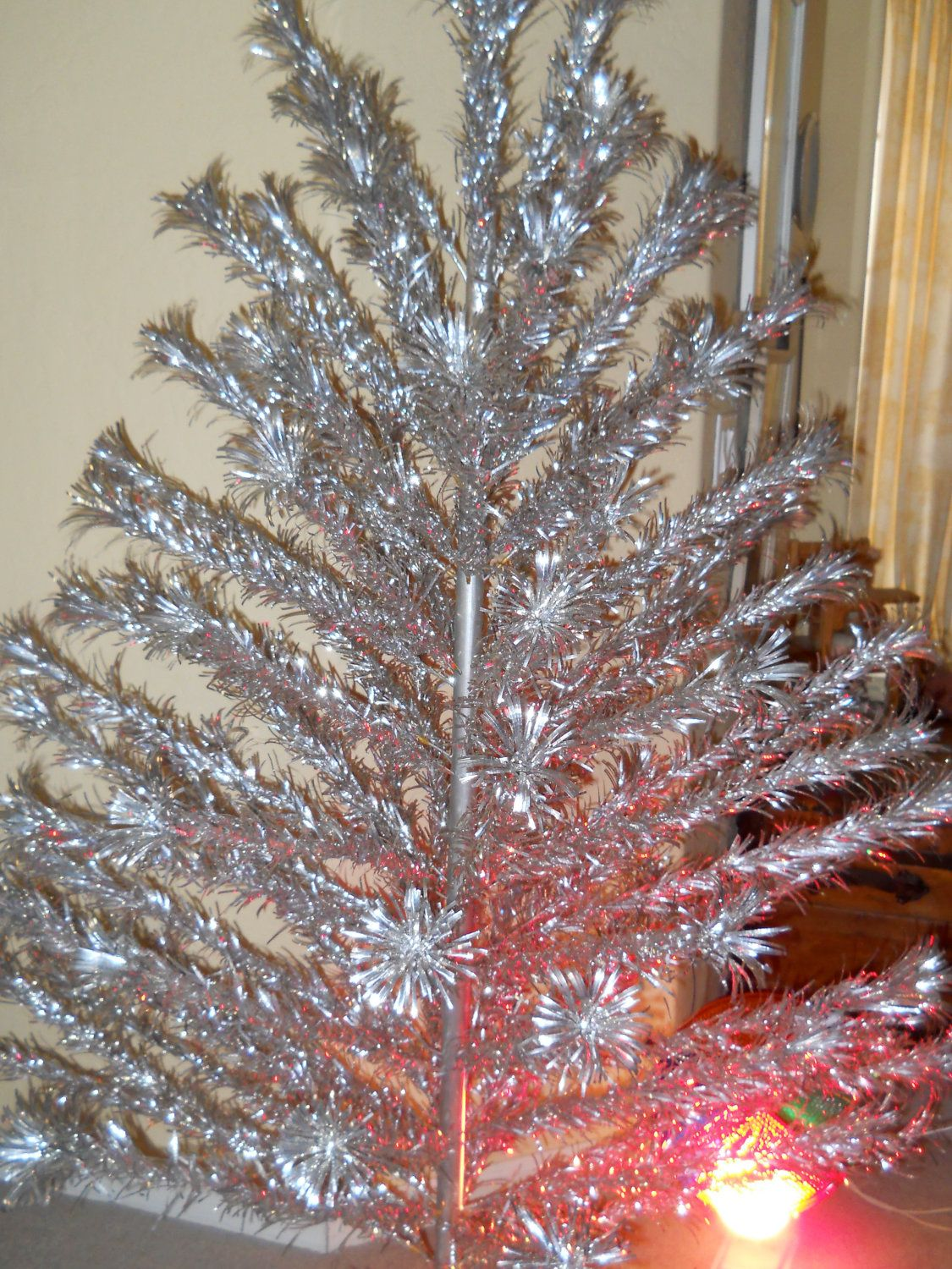 Vintage 6 Ft Aluminum Christmas Tree By Silverline And Color Wheel