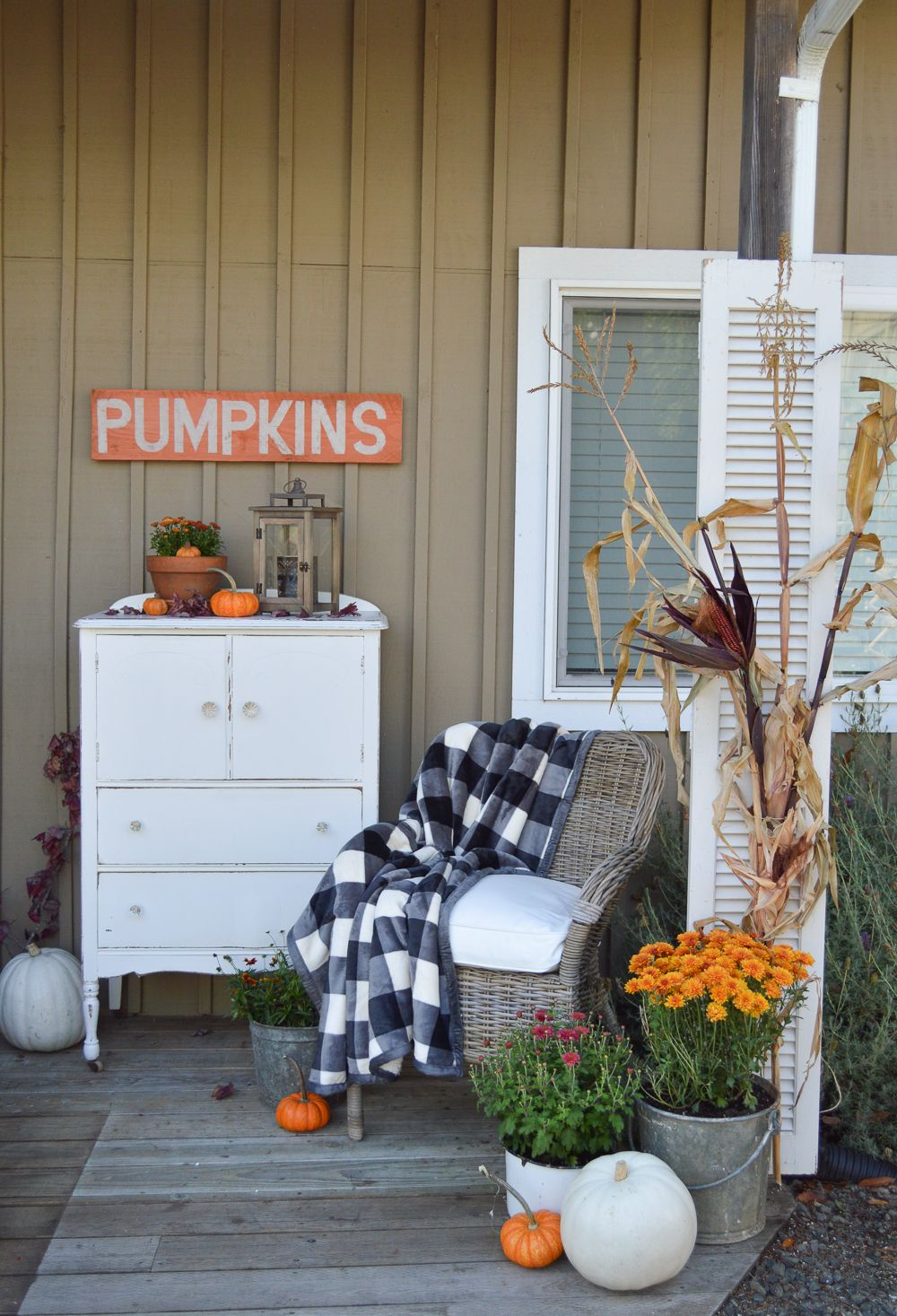 Vintage Cottage Fall Porch Fall Outdoor Decor Porch Decorating Fall Porch