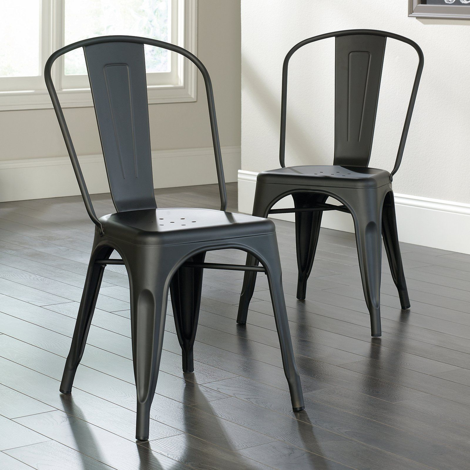 Sauder Woodworking New Grange Metal Dining Chairs   Set Of 2 | From  Hayneedle.com